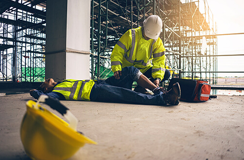 Construction worker hurt on site